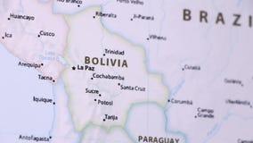 Boliwia na mapie z defocus