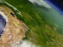 Boliwia od przestrzeni ilustracja wektor