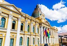 Boliwijski Rządowy budynek los angeles Paz, Boliwia, - obraz stock