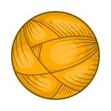 Boll av ullgarn för att sticka symbolen, tecknad filmstil Arkivbilder