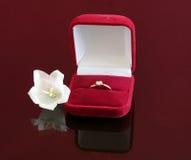 boll czerwieni pierścionku ślubu wino zdjęcia royalty free