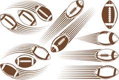 Boll för amerikansk fotboll Arkivfoton