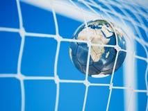 Boll för fotboll för fotbolljordplanet royaltyfri illustrationer
