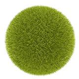 boll för gräs 3d royaltyfri fotografi