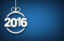 Boll för nytt år för papper 2016 royaltyfri illustrationer