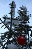 Boll för nytt år för LSR-GRUPP röd Fotografering för Bildbyråer