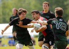 Boll för rugbymanspelare Royaltyfria Foton