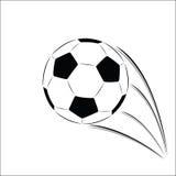 boll isolerad blank fotbollvektor Royaltyfria Bilder