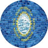 Boll med den South Dakota flaggan - illustration Royaltyfria Foton