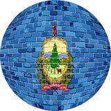 Boll med den Vermont flaggan - illustration Arkivfoto