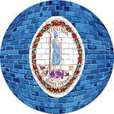 Boll med den Virginia flaggan - illustration Royaltyfri Foto