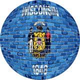 Boll med den Wisconsin flaggan - illustration Royaltyfri Foto