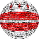 Boll med Washington DCflaggan - illustration Royaltyfri Bild