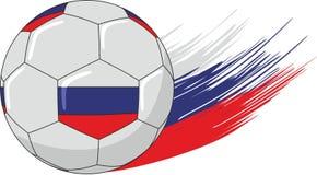Boll och Ryssland flaggafärger Royaltyfria Bilder