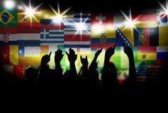 Boll som målas i flaggan av South Africa som isoleras på vit bakgrund Royaltyfria Foton