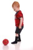 boll som stöd fotbollungdommen royaltyfria bilder