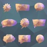 Bolla astratta di discorso di origami Illustrazione di Stock