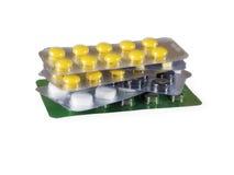 Bolla delle pillole Fotografia Stock
