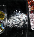 Bolla di aria in acqua Immagini Stock