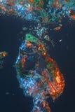Bolla di aria variopinta in acqua Fotografia Stock