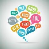 Bolla di chiacchierata di acronimi Immagini Stock Libere da Diritti