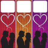 Bolla di discorso di amore Fotografia Stock Libera da Diritti
