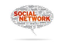 Bolla di discorso - rete sociale Immagini Stock Libere da Diritti