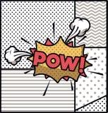 Bolla di espressione con stile di Pop art del prigioniero di guerra royalty illustrazione gratis