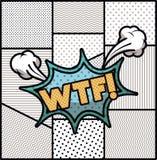 Bolla di espressione con stile di Pop art del wtf illustrazione vettoriale
