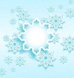 Bolla di Natale con i fiocchi di neve dell'insieme Fotografie Stock Libere da Diritti