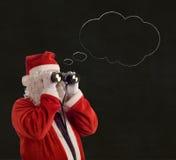 Bolla di pensiero di idea di Christmas Business Strategy del padre Fotografie Stock Libere da Diritti