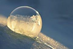 Bolla di sapone congelata Fotografia Stock Libera da Diritti