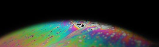 Bolla di sapone multicolore dell'arcobaleno, fondo psichedelico Colori e struttura liquidi astratti fotografia stock libera da diritti