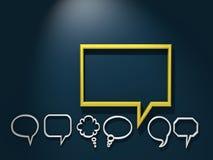 Bolla dorata di conversazione fra gray altri Immagine Stock Libera da Diritti