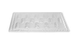 Bolla posteriore del di alluminio per la capsula della medicina isolata su briciolo Immagini Stock