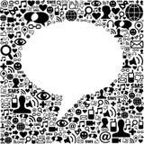Bolla sociale di discorso di media Immagine Stock Libera da Diritti