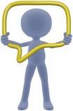 Bolla sociale di discorso di media della stretta 3D della persona Fotografia Stock