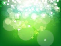 Bolla verde blu della priorità bassa astratta Fotografie Stock Libere da Diritti