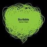 Bolla verde dello scarabocchio Fotografia Stock
