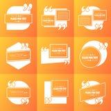 Bolla vuota del testo di citazione del quadrato di discorso di vettore astratto di concetto Per il web ed il cellulare app su fon Fotografie Stock Libere da Diritti