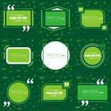 Bolla vuota del testo di citazione del quadrato di discorso di vettore astratto di concetto Per il web ed il cellulare app su fon Fotografie Stock