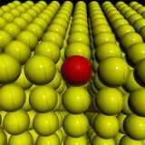 bollar 3d stöter röd enkel yellow för jordklot Fotografering för Bildbyråer