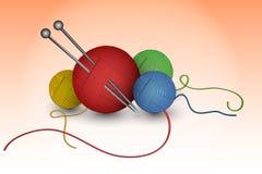 Bollar av ull vektor illustrationer