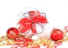 bollar box den festliga gåvan Arkivbilder