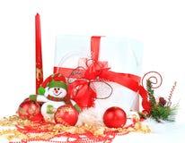 bollar box den festliga gåvan Arkivfoto