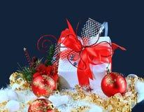 bollar box den festliga gåvan Royaltyfria Bilder