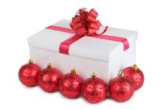bollar box röd white Arkivbild
