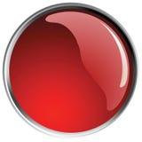bollar button glansig red Royaltyfri Bild