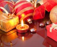 bollar card nytt år för red s Royaltyfri Fotografi