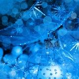 Bollar för julgarneringblått Arkivbild